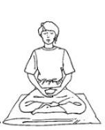 postura birmana de meditacion
