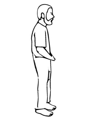 postura meditar de pie