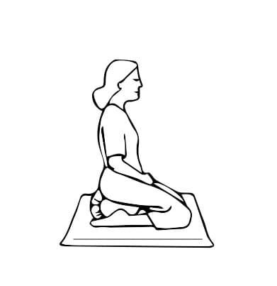 postura seiza meditacion