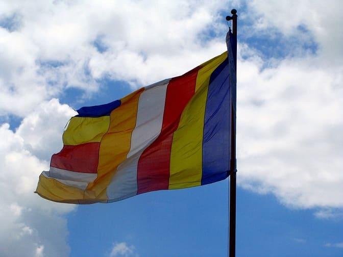bandera del tibet budista