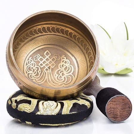 bol tibetano bronce