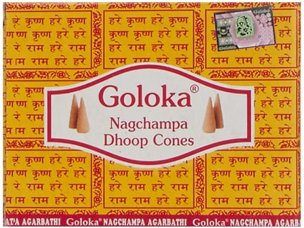 goloka nagchampa dhoop cones conos de incienso